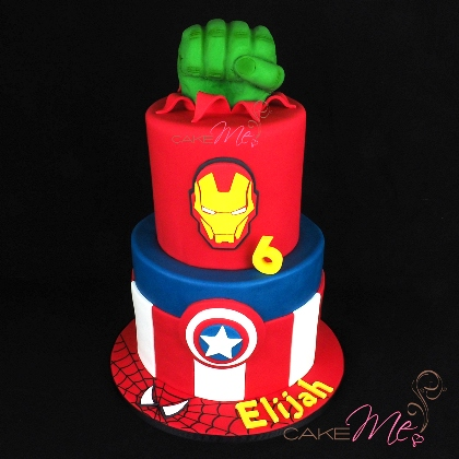 Elijah's Marvel Avengers birthday cake