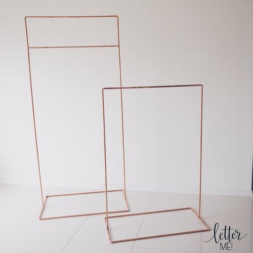 Rose Gold/Copper Signage Frames / Stands for HIRE — Letter Me!