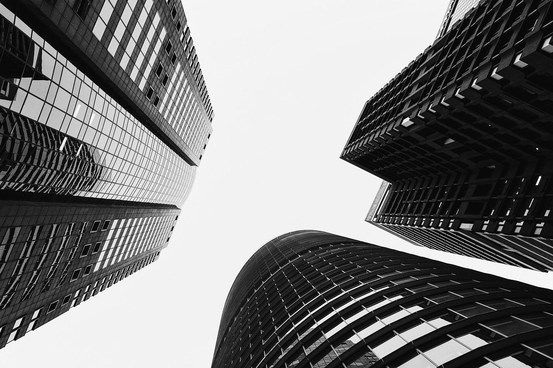Looking up in Sydney CBD