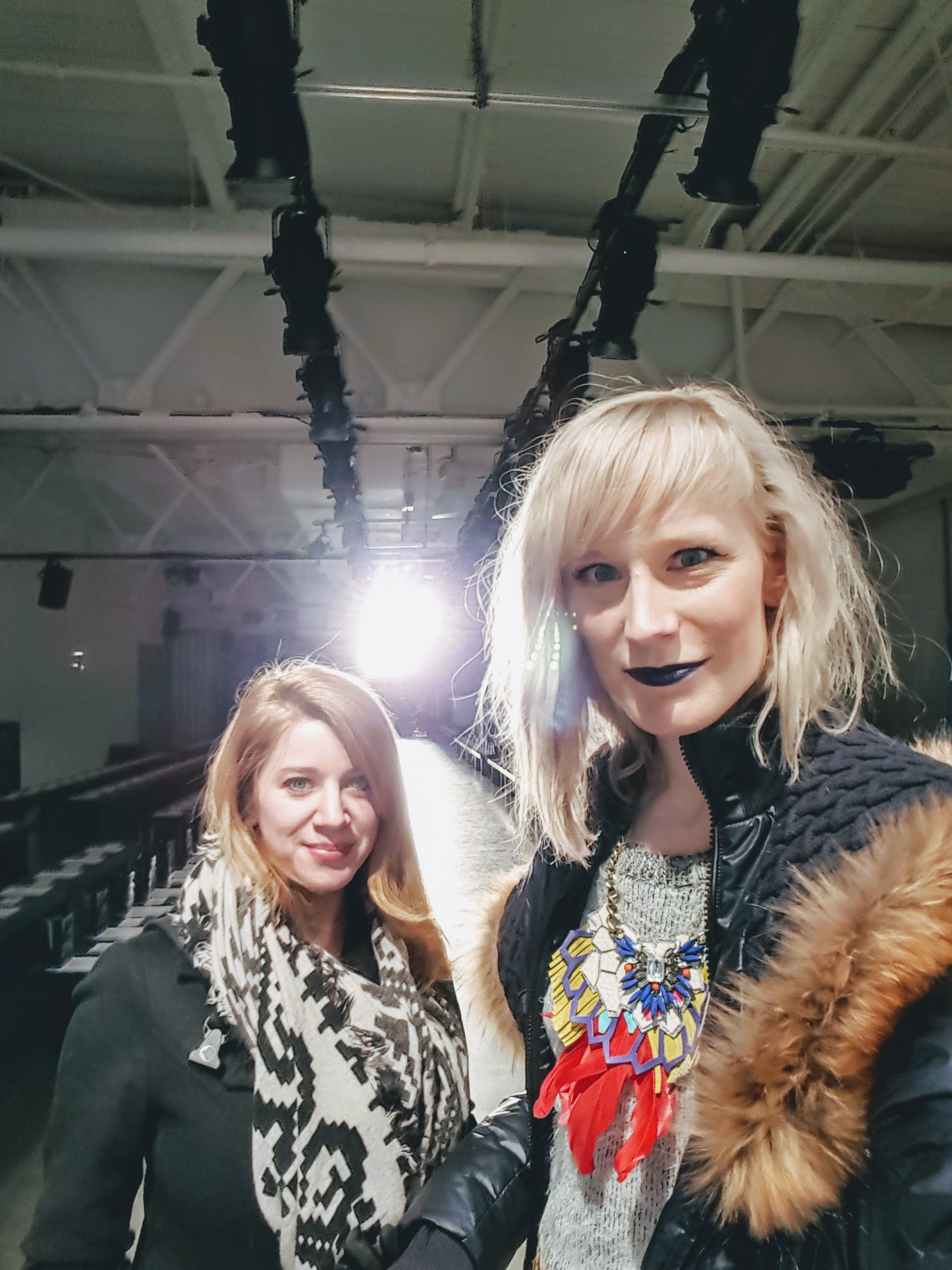Gals on the runway: Wendy and I used to watch Project Runway devotedly while in college, so you can imagine we were extra giddy sharing this experience.