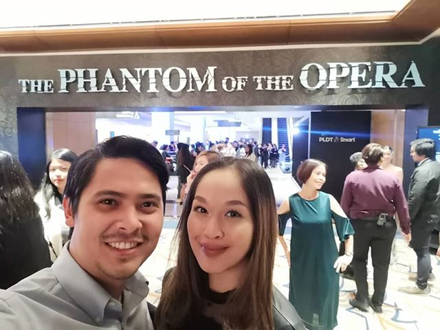 Date night last night. Super happy we got to catch it since it's Chris' favorite musical. What an amazing show. Absolutely loved it!!! ❤️ (Hello to the tita at the back 😂 She's got the tita pose down!)