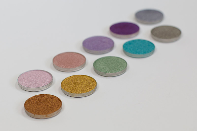 Makeup Geek Foiled Shadows Expansion Set Swatches