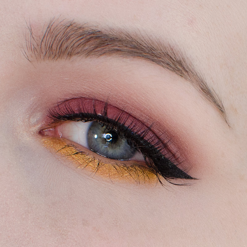 Burgundy and Gold Eyeshadow Tutorial
