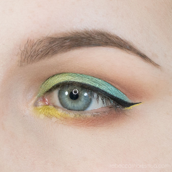 Green and Blue Saucebox Batalash Palette Tutorial
