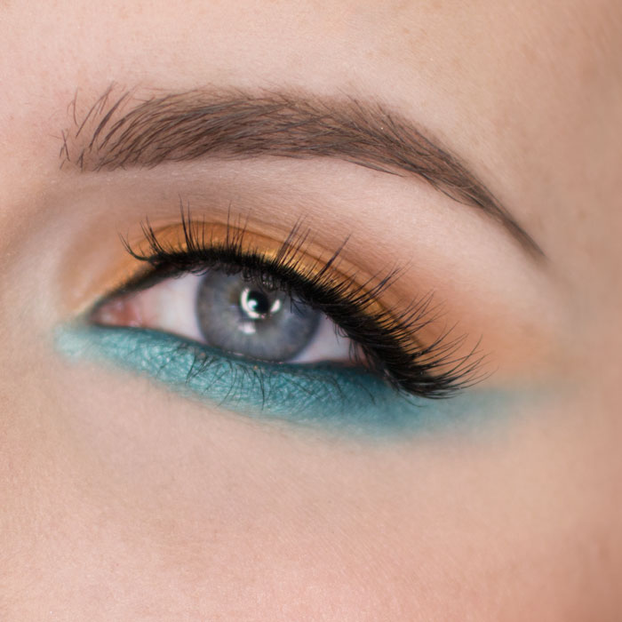 Bright Coppers and Cool Blues Metallics Look