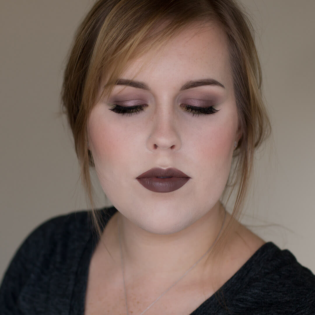 Taupe and Green Eye Makeup Look