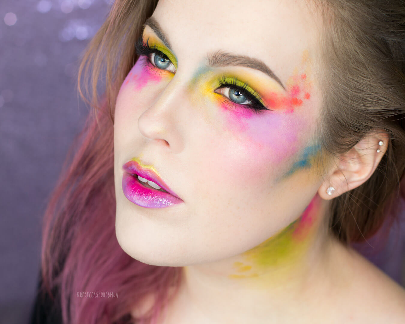 melt radioactive stack makeup inspiration colorful