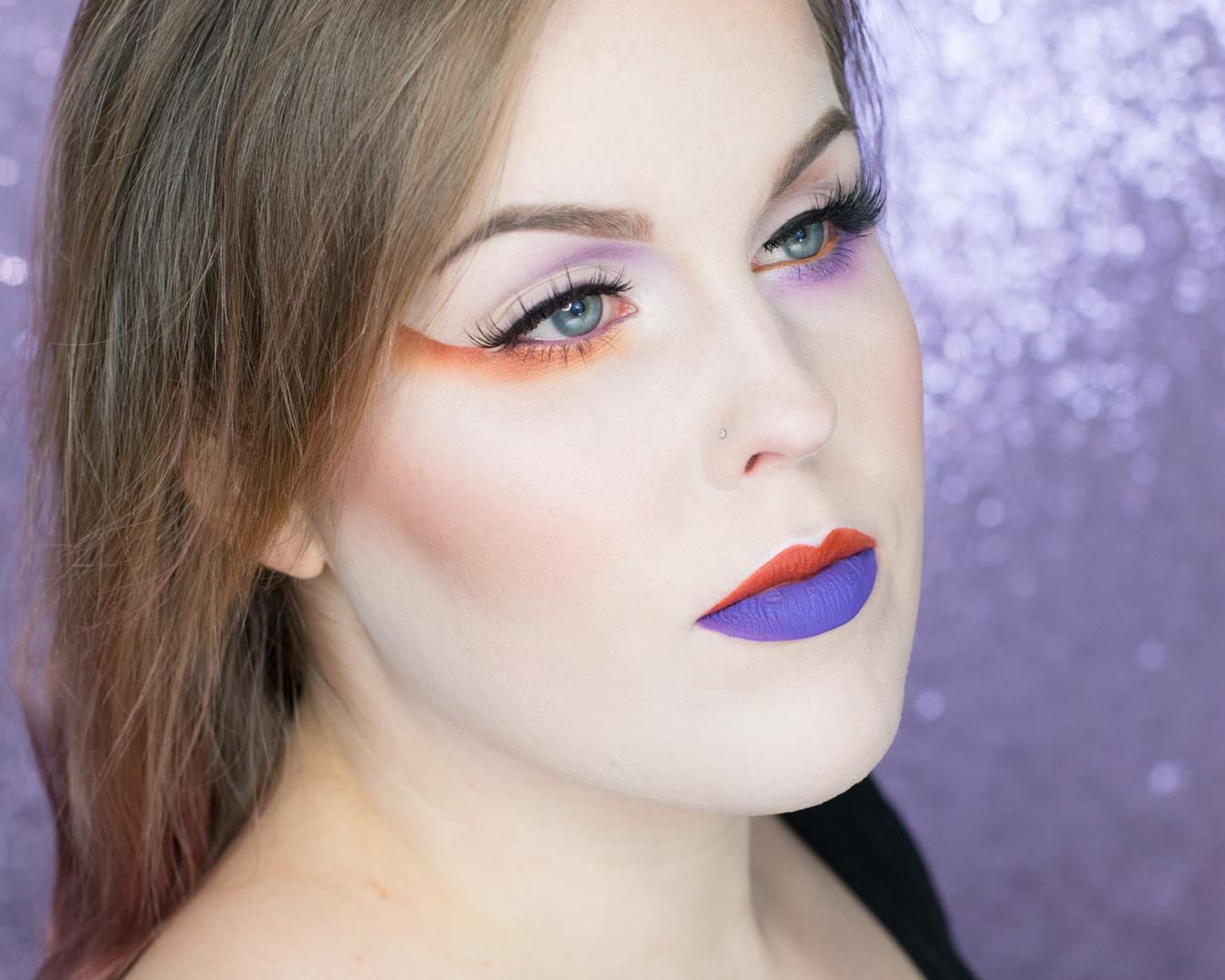 two-toned-eyeshadow-makeup-inspiration-orange