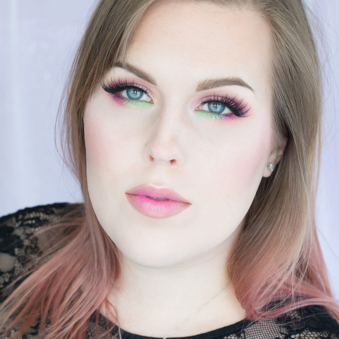 Petal Pink and Minty Greens Makeup Tutorial