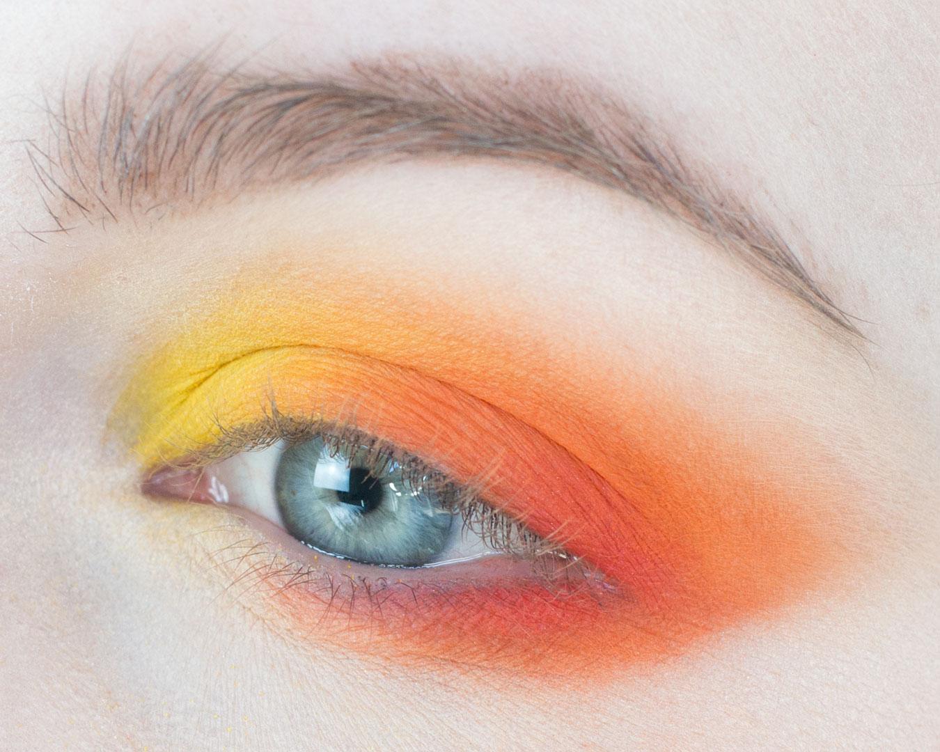 ed, Orange, Yellow Analogous Makeup Look with Education on Analogous Color Harmonies