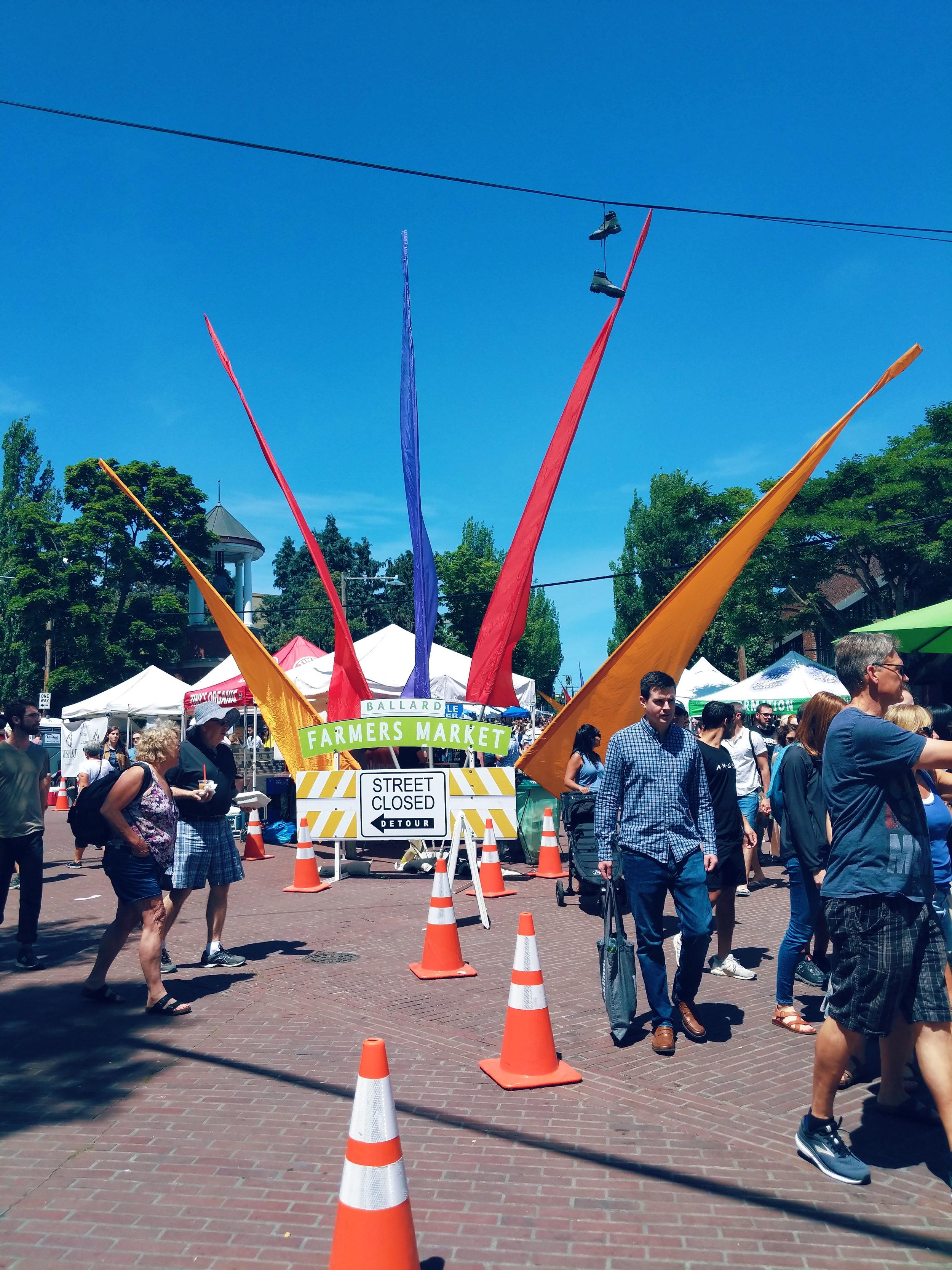 Seattle Must Stop: Visit the Ballard Farmers Market Front of market