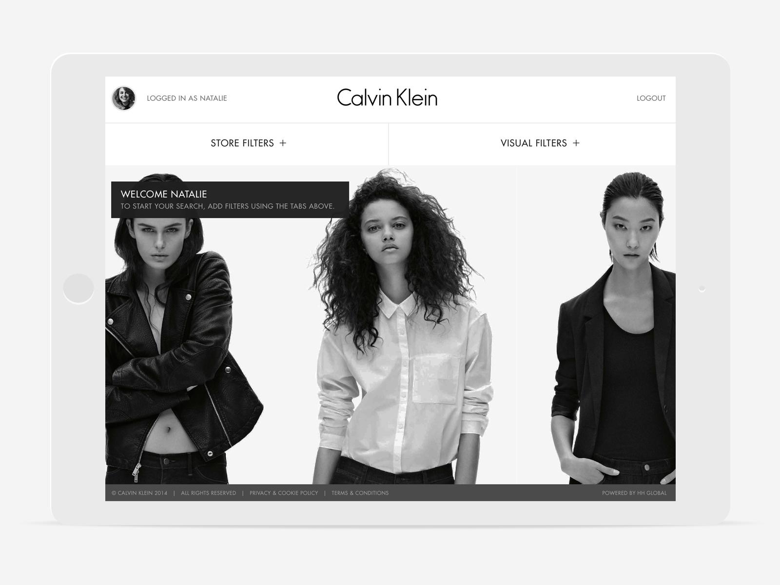 calvinklein web app