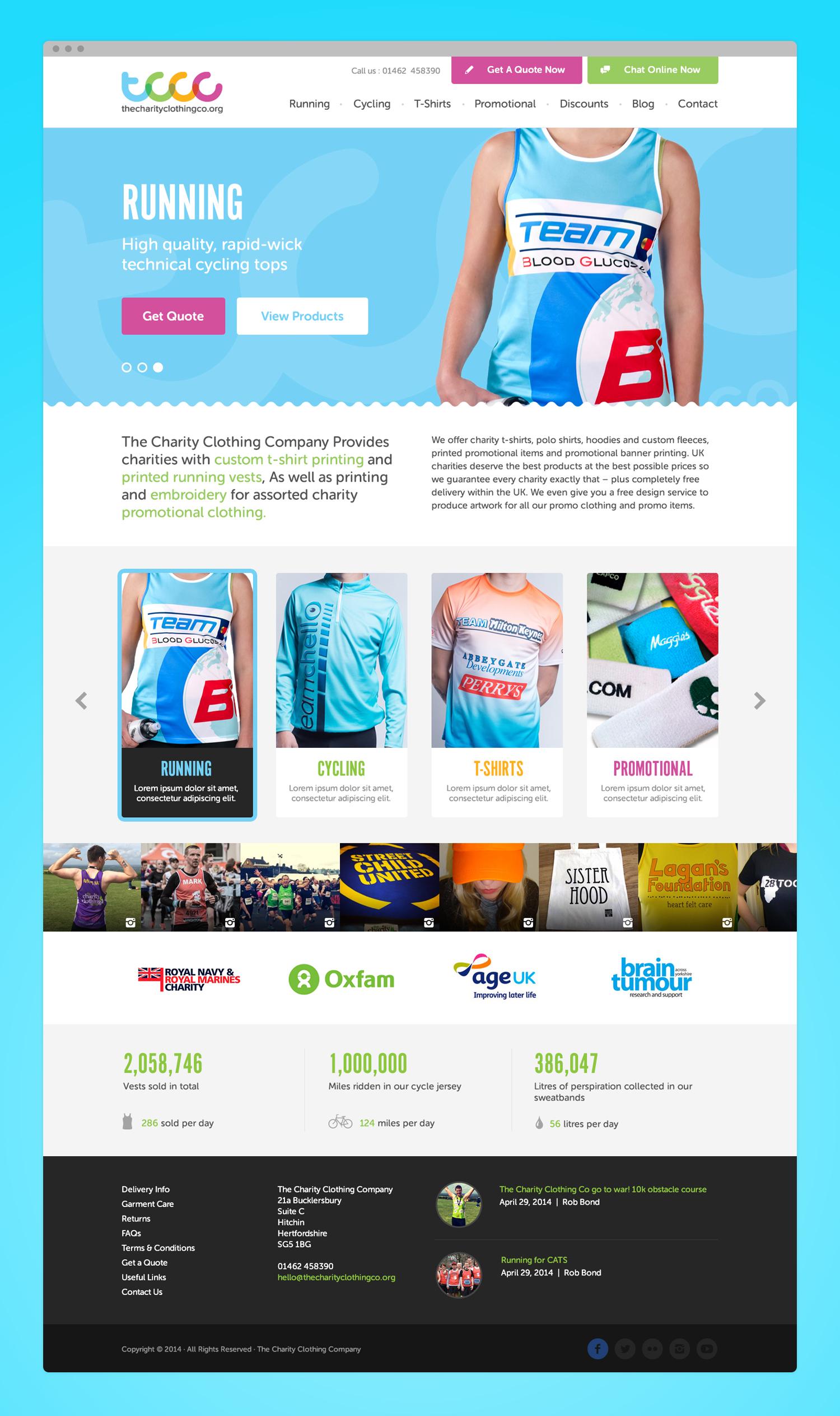 charityclothingcompany website design