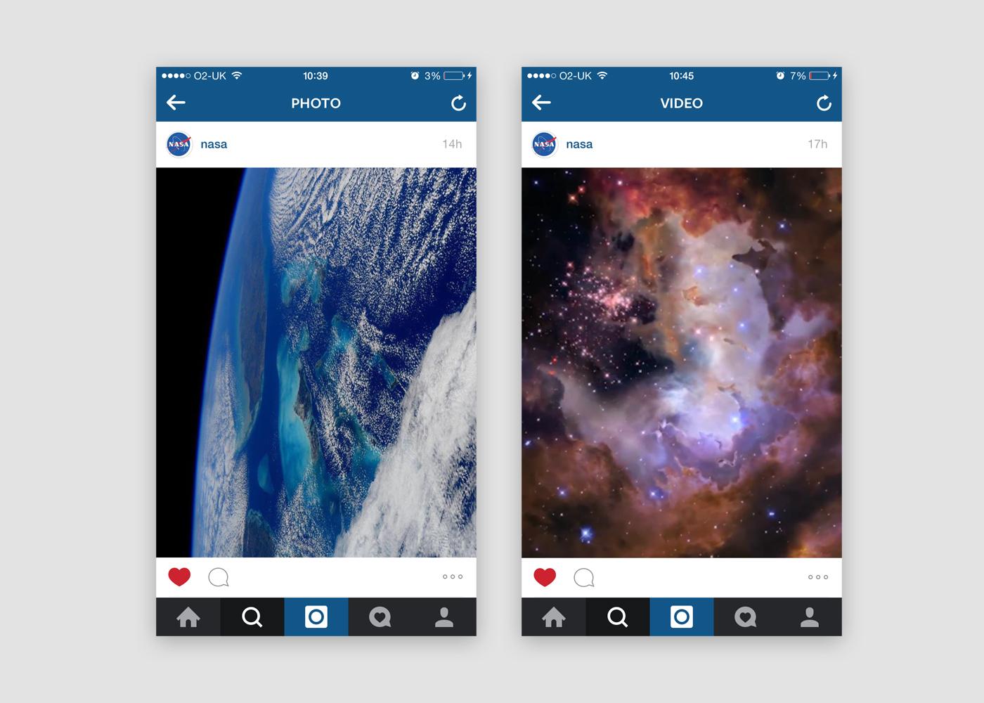 Nasa's Instagram