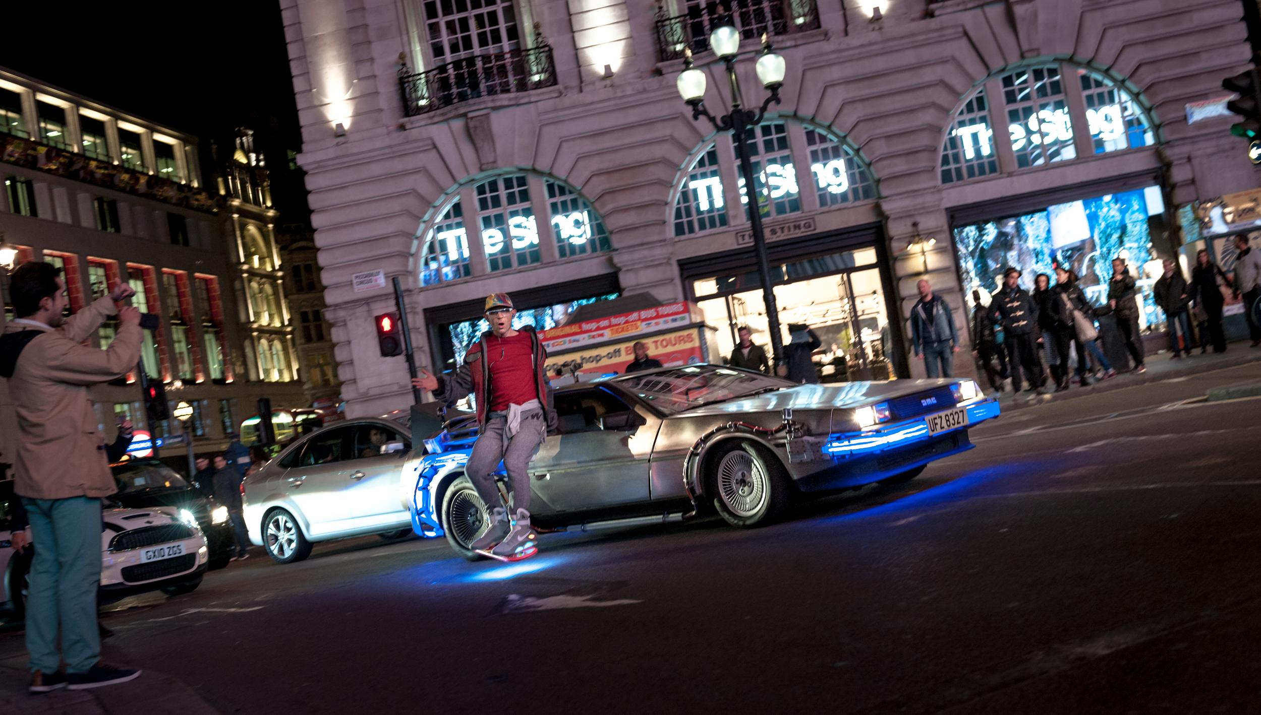 Jason Bradbury in Piccadilly Circus