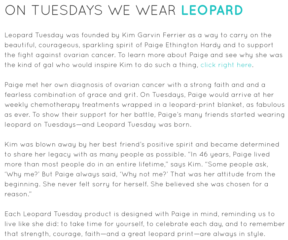 The Leopard Tuesday story.