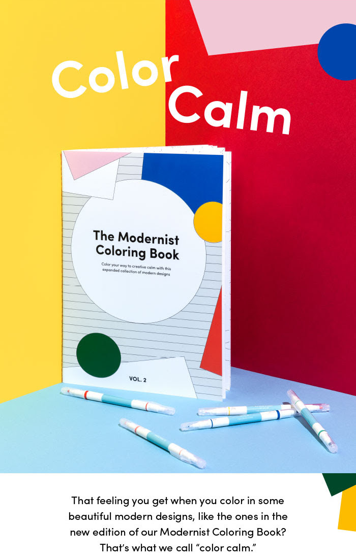I updated the titling on products like the Modernist Coloring Book Vol. 2 to make it more streamlined and pleasant to read.