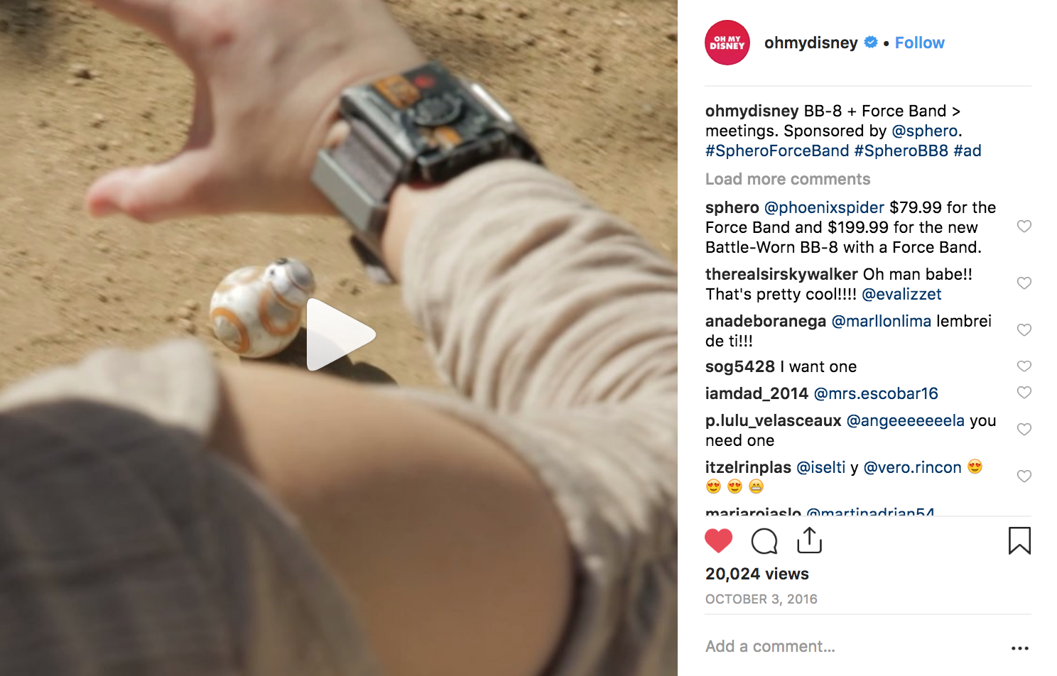 I wrote and produced branded videos for social media, including  this Instagram video .