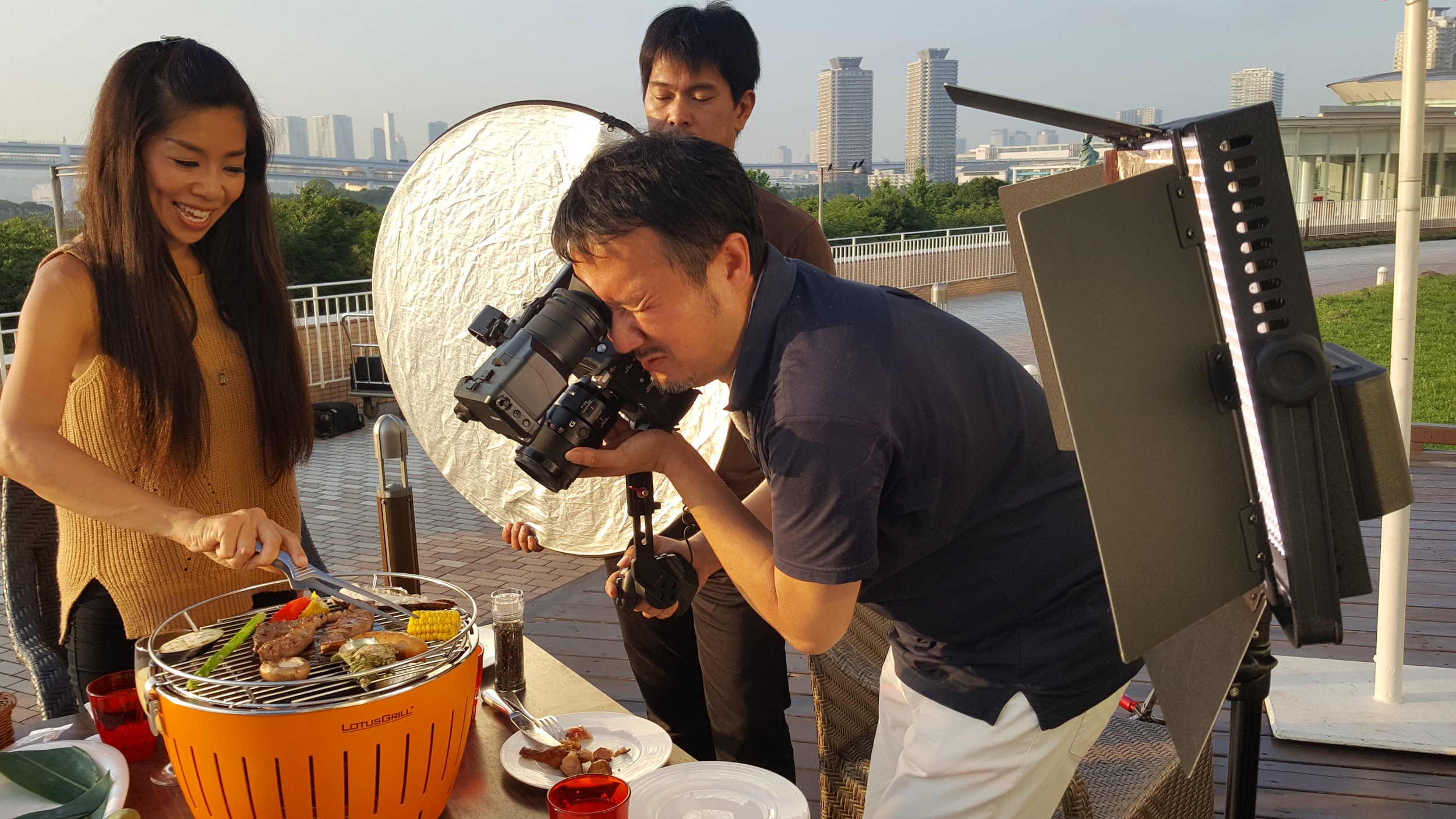 Shooting 4K video on location at Hilton Tokyo Odaiba.