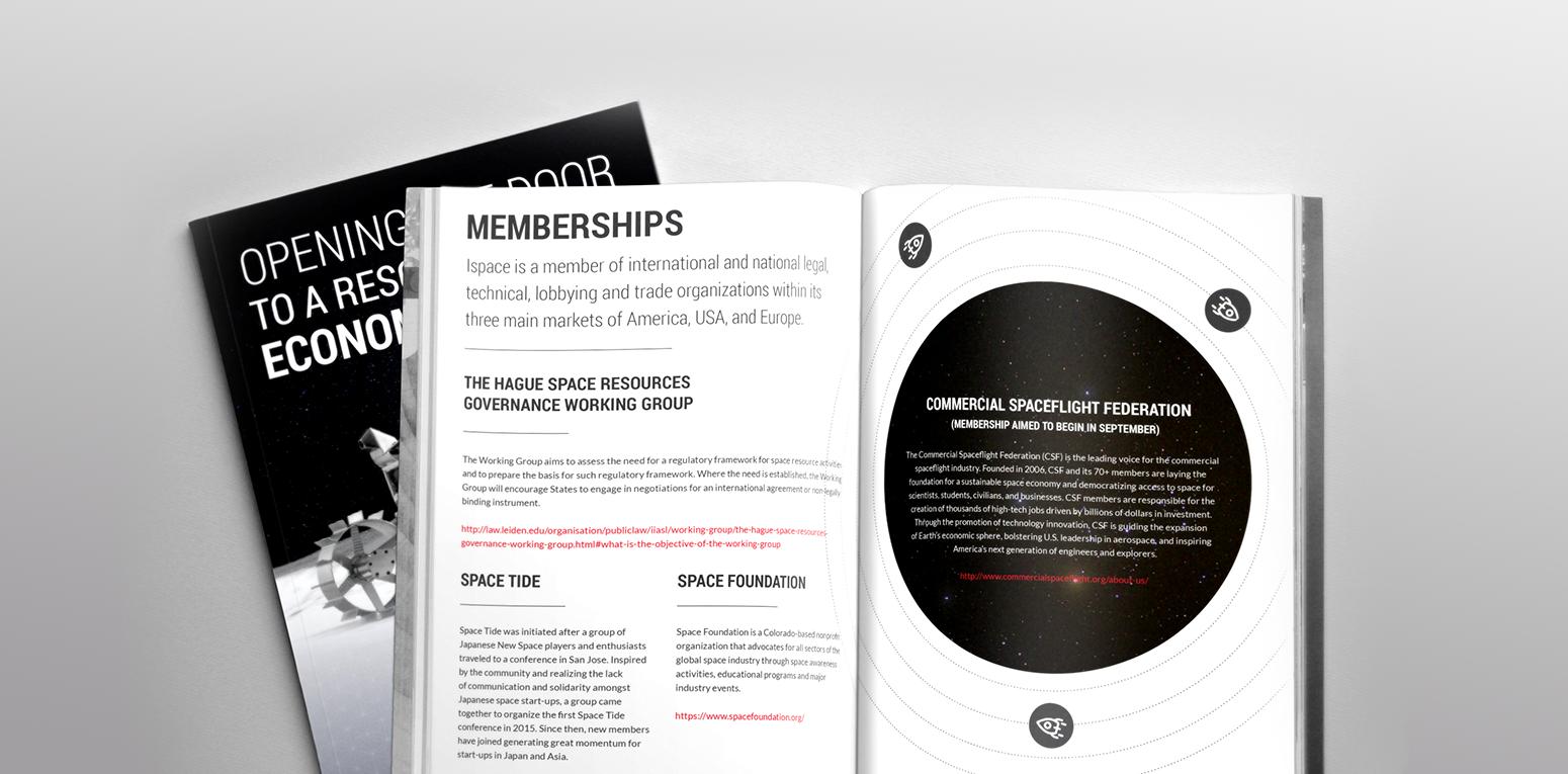 Booklet designs for partner promotions.