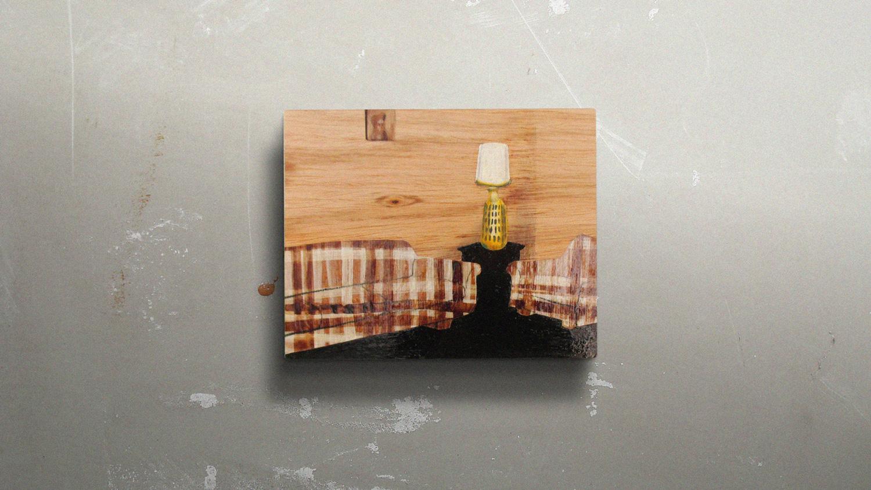 HOUSTON 01  30x24cm Mixed media on plywood