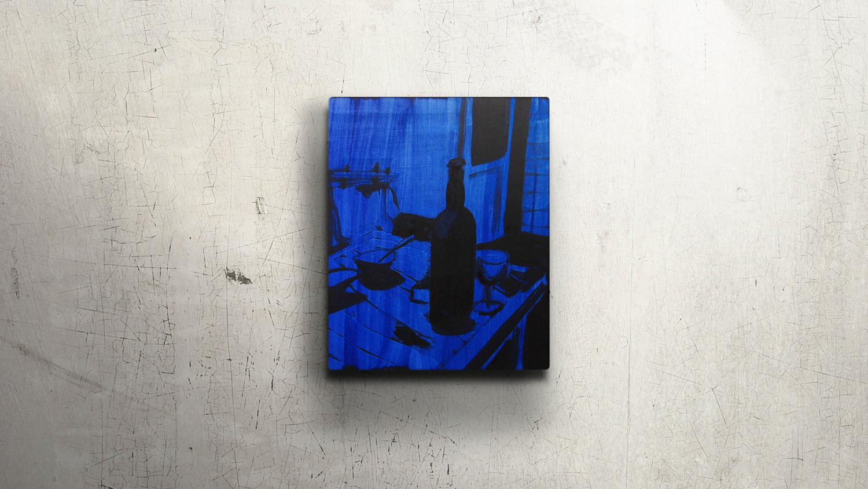 UDEVALLA 01  30x40cm Mixed media on plywood  Sold