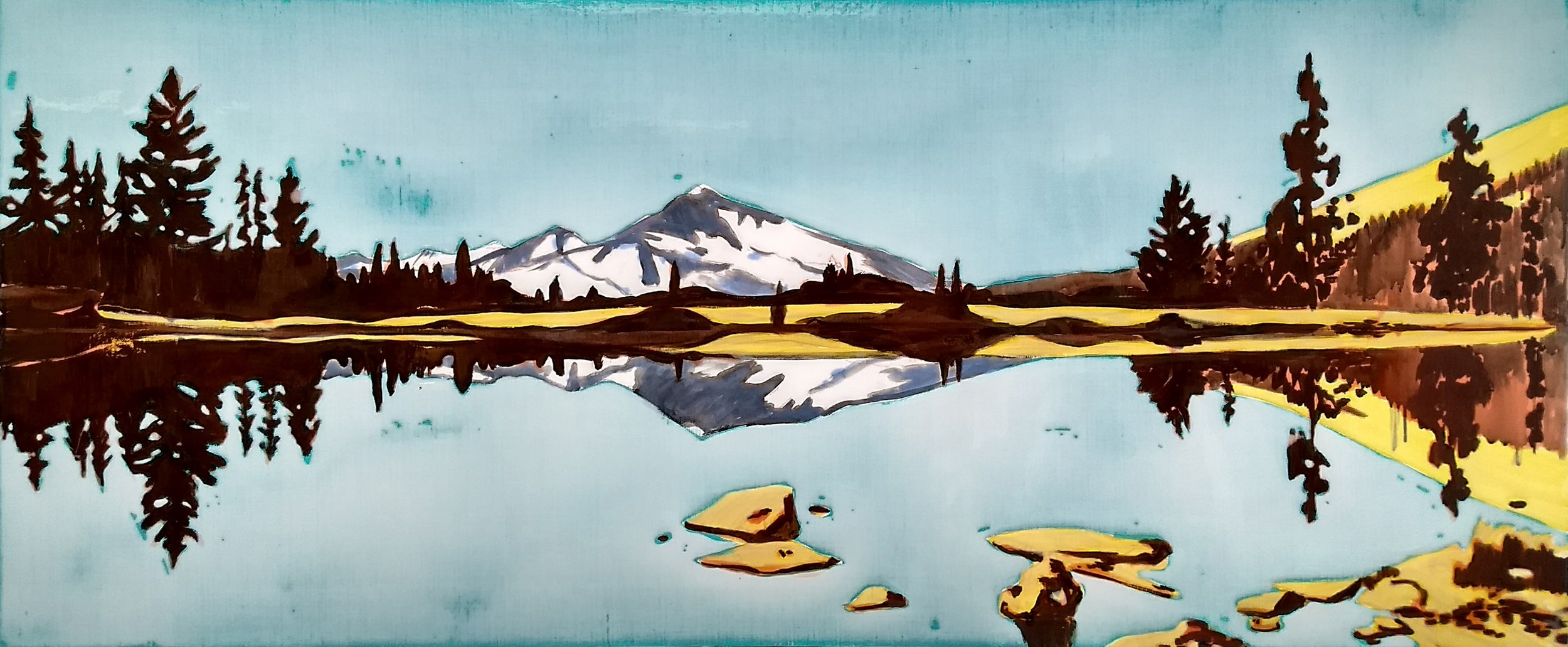 YOSEMiTE-3  60 x 150cm acrylic and epoxy on canvas