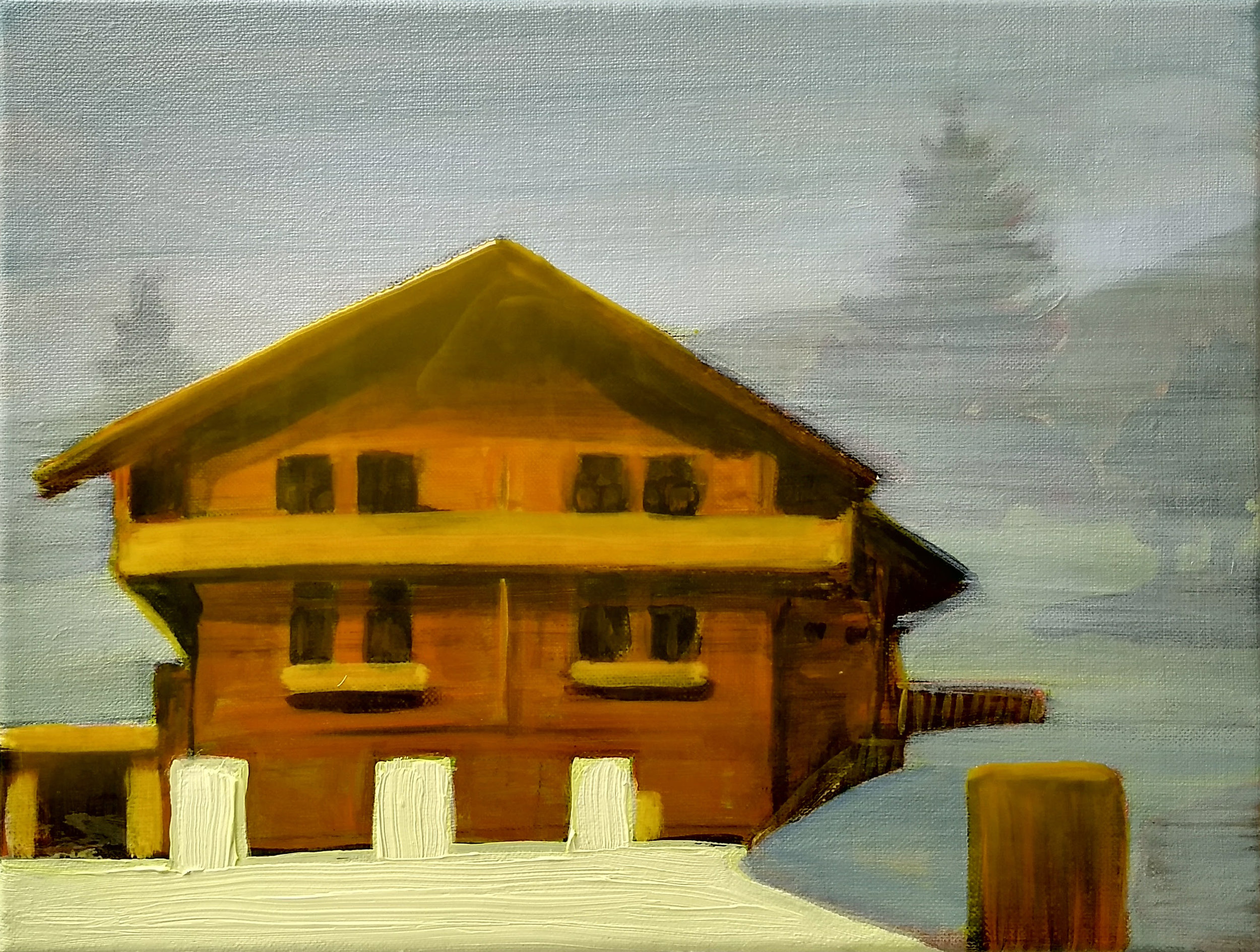 MORGINS  30 x 40 cm acrylic, epoxy and oil on canvas