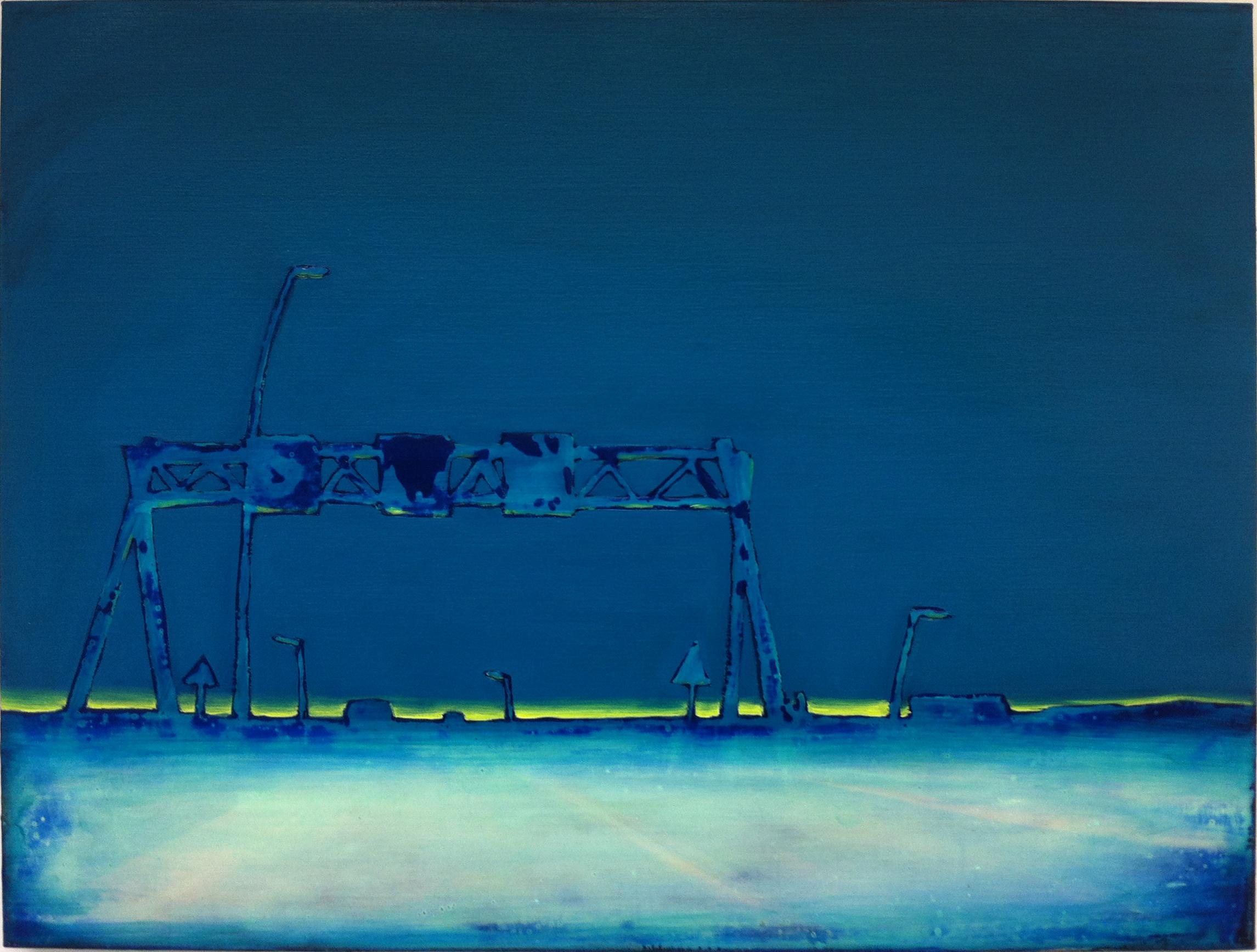 A2-NL-01  60X80 cm acrylic and epoxy on canvas