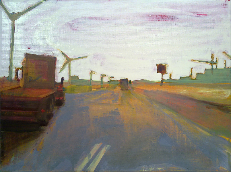 EUROPAWEG MAASVLAKTE  30 X 40 cm Oil on canvas  Sold