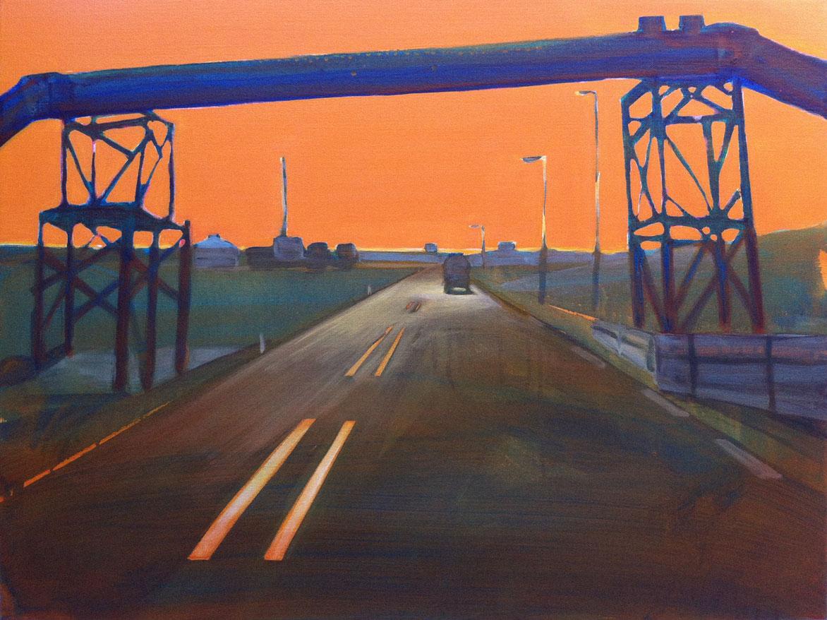 EUROPAWEG MAASVLAKTE  60X80 cm Oil on canvas