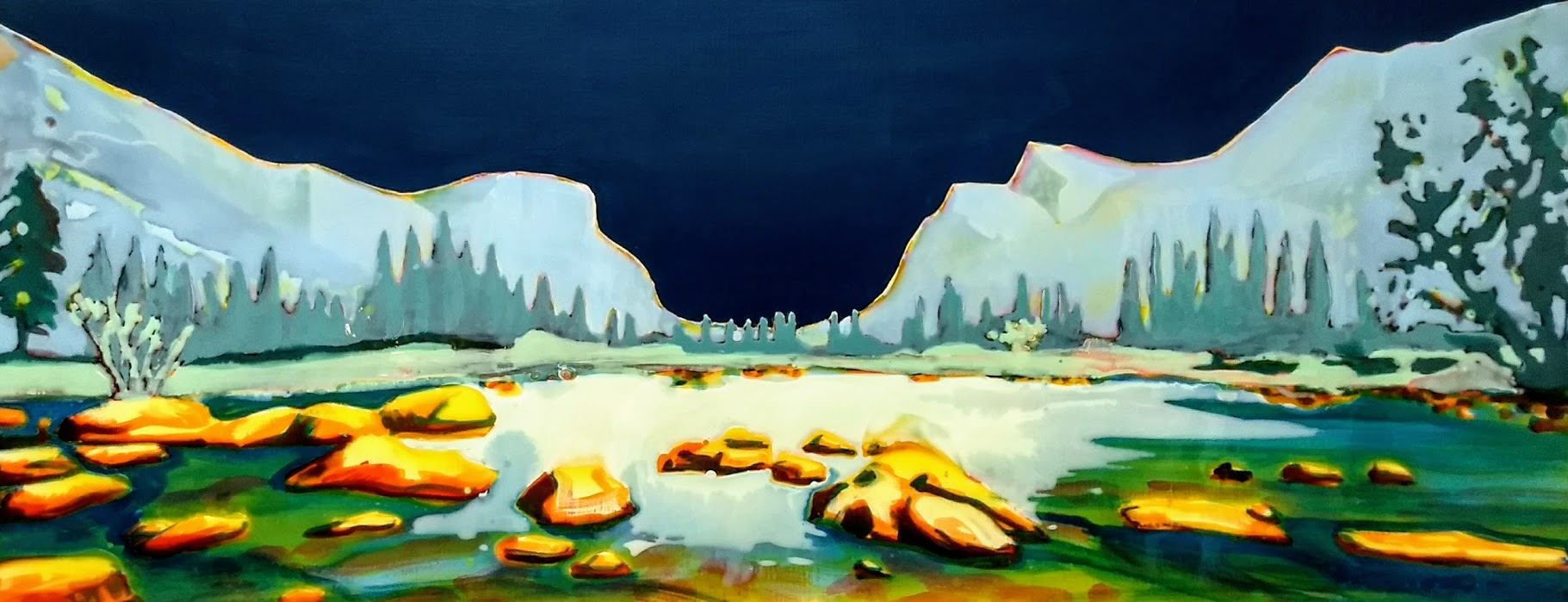 YOSEMITE  acrylic and epoxy on canvas 60 x 150 cm  Sold