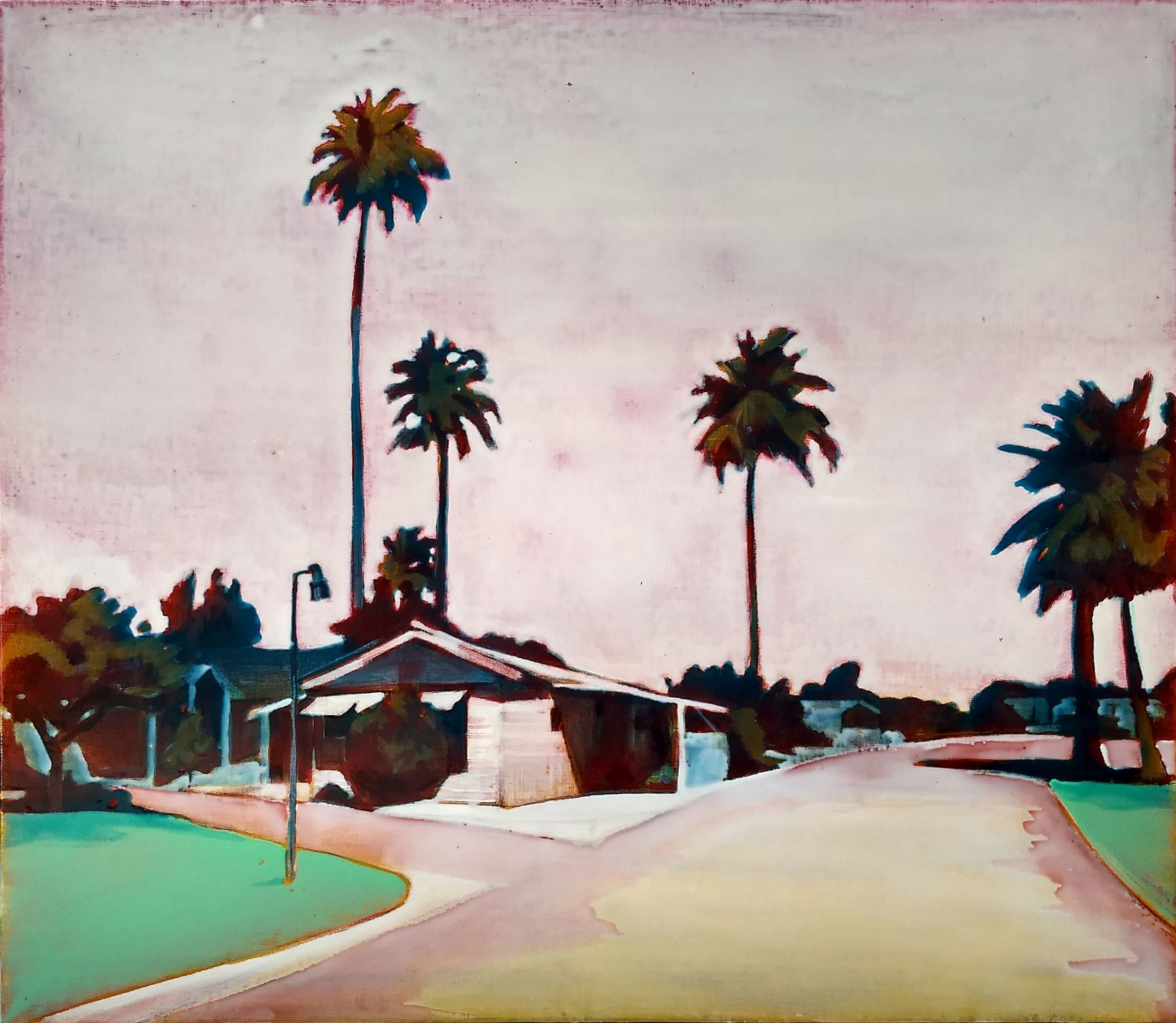 PALM SPRINGS  100x115 cm acrylic and epoxy on canvas  Sold