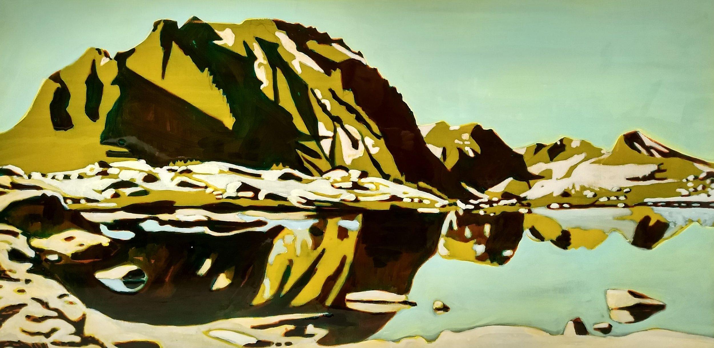 PINCHOT PASS  70x140 cm acrylic and epoxy on canvas