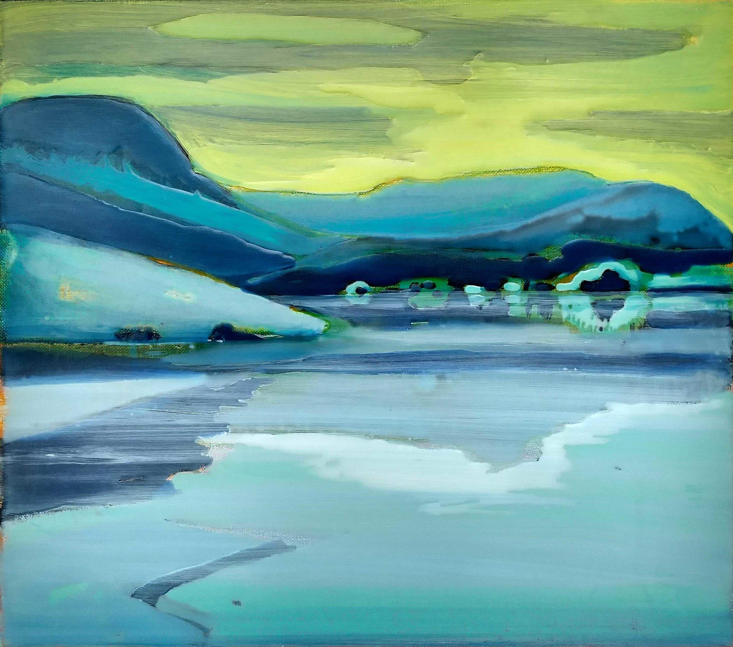 NORWAY-6  40x45 cm acrylic and epoxy on canvas