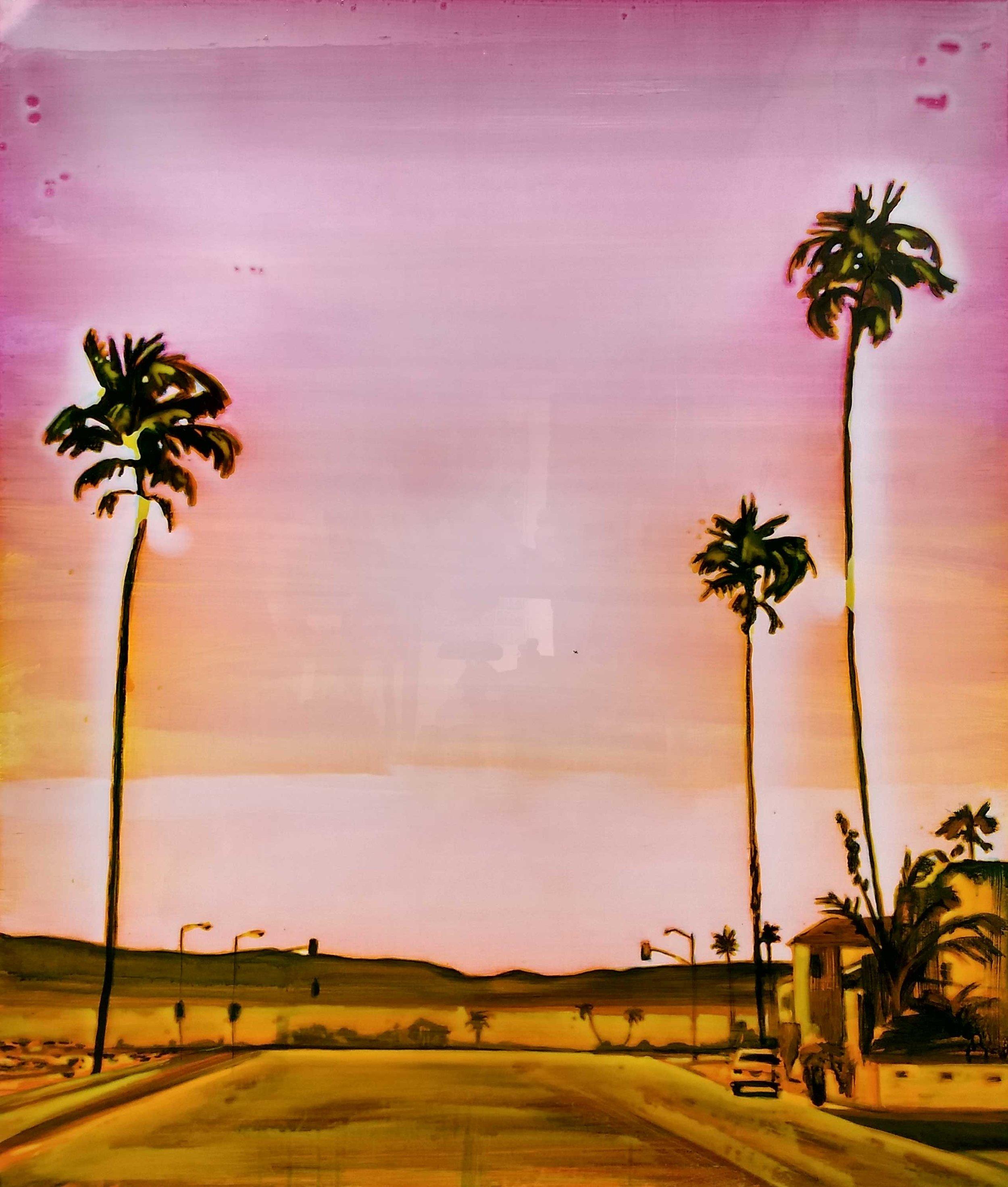 棕榈泉 - 2 布面丙烯酸及环氧树脂 120 x 100 cm 已售