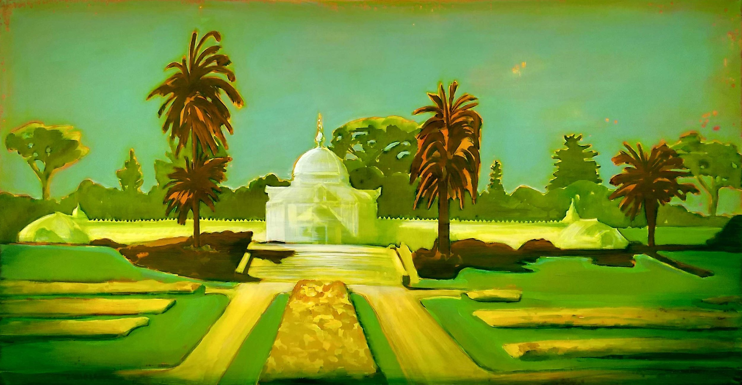 GOLDEN GATE PARK  70 x 140 cm Acrylic and epoxy on canvas