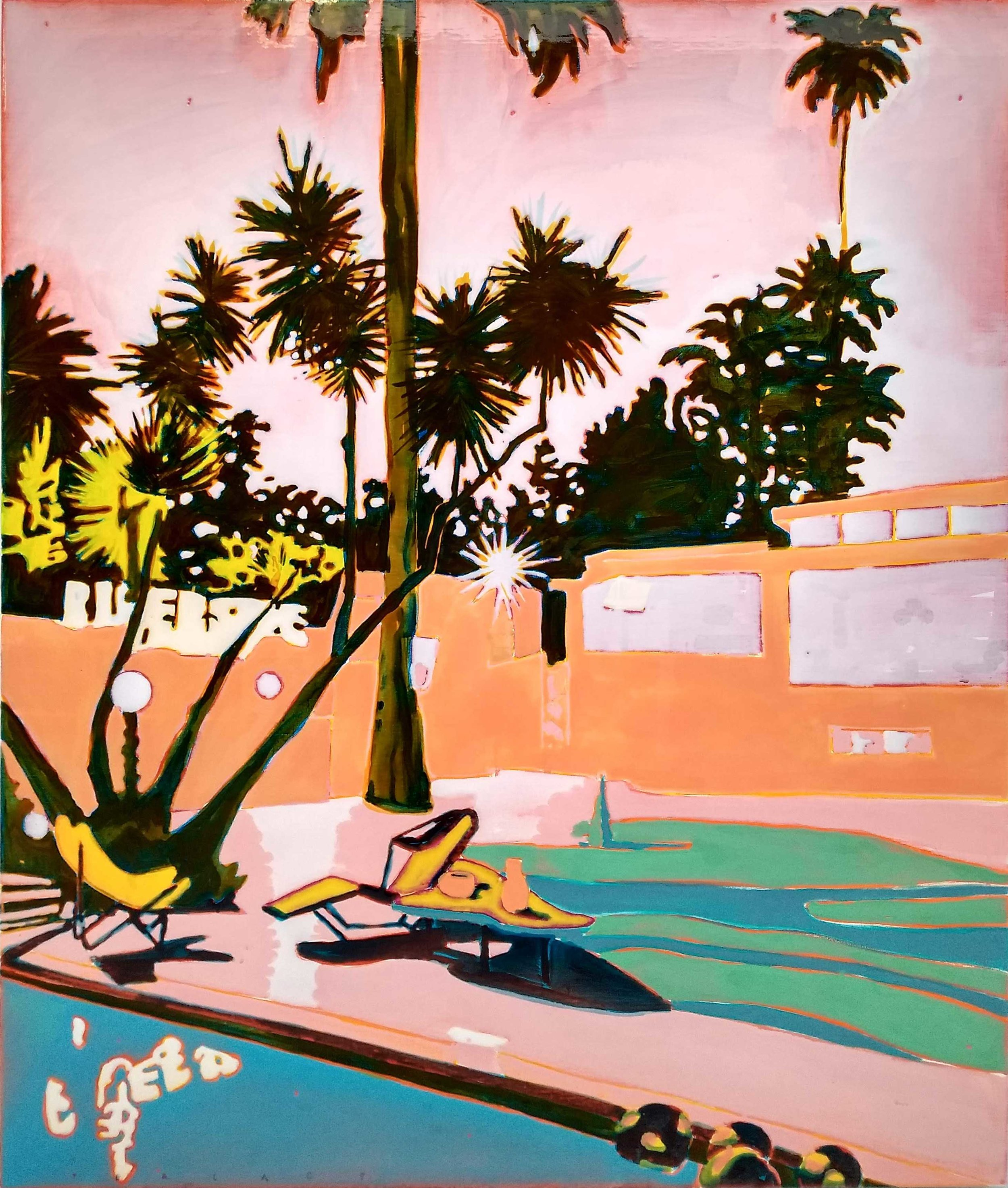 ONE OF THESE NIGHTS  120 x 100 cm Acrylic and epoxy on canvas  Sold