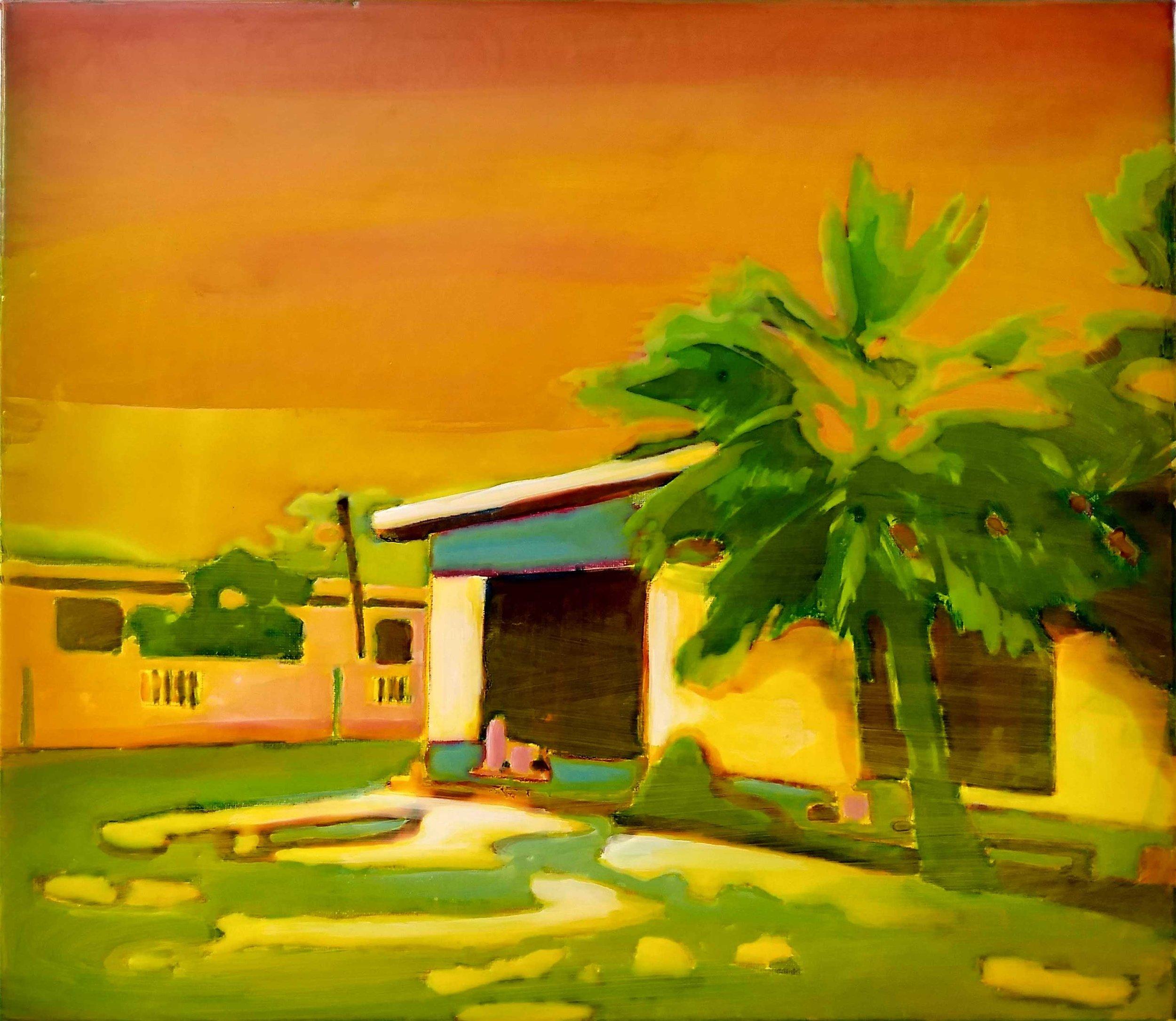 FORTUNA ARIBA  40 x 45 cm Acrylic and epoxy on canvas