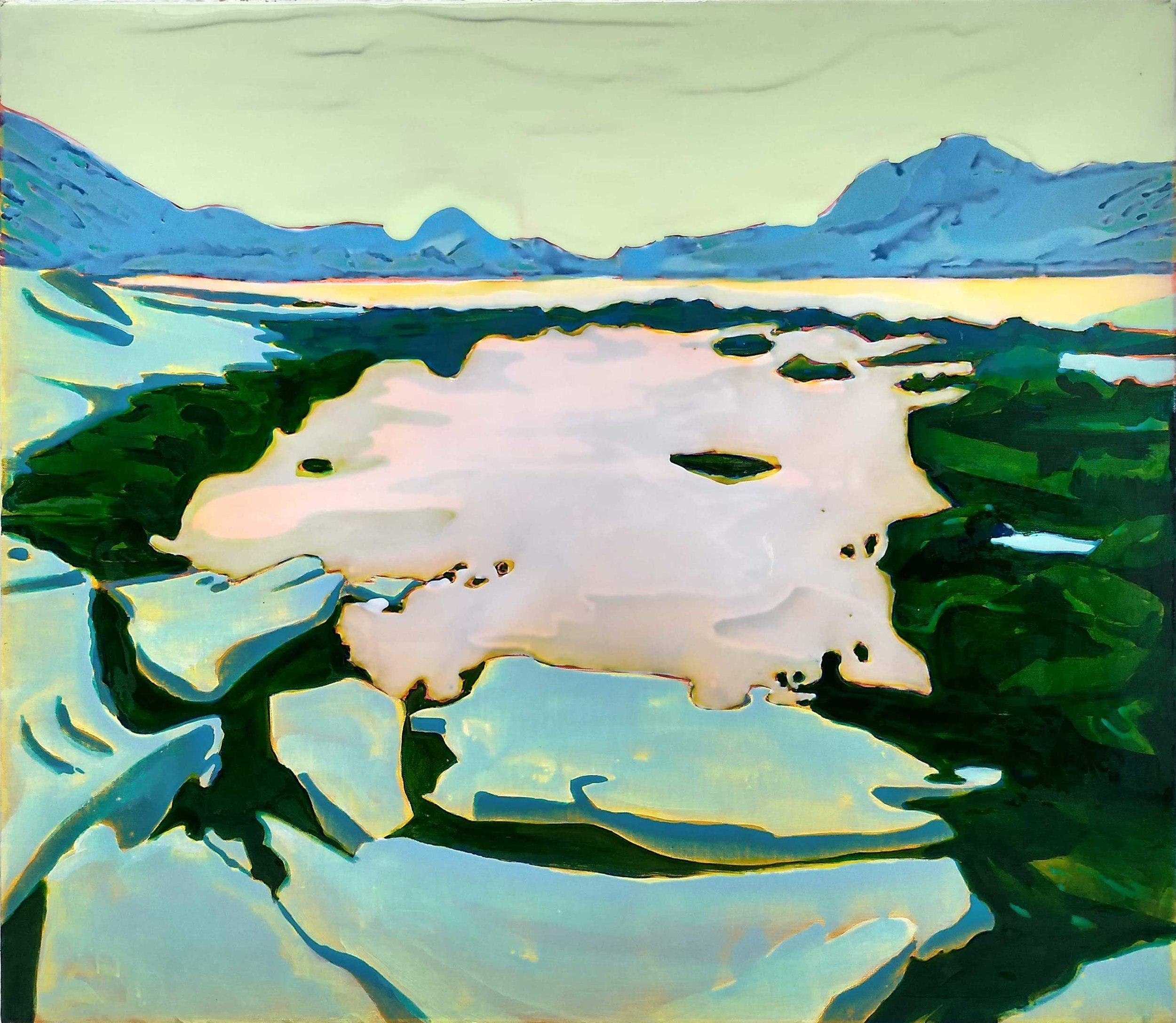 寂靜之聲 - 2  布面丙烯酸及环氧树脂 100 x 120 cm