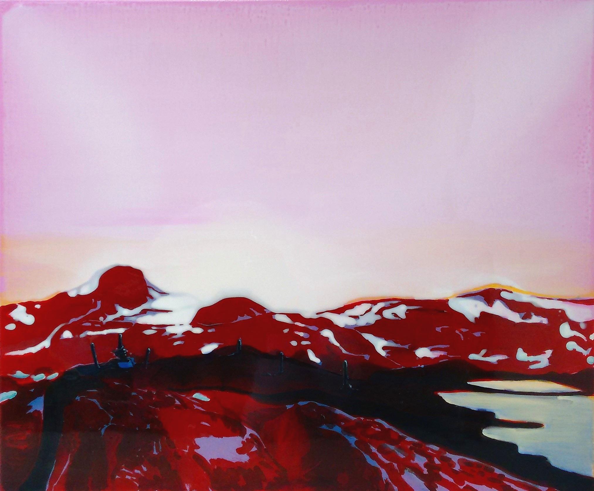 SOGNEFJELLSVEGEN 2  120 x 100 cm Acrylic and epoxy on canvas