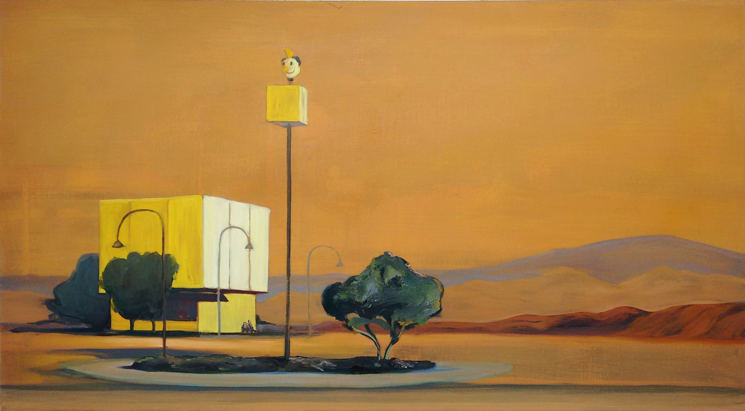 MONUMENT BOULEVARD  150 x 80 cm Oil on canvas