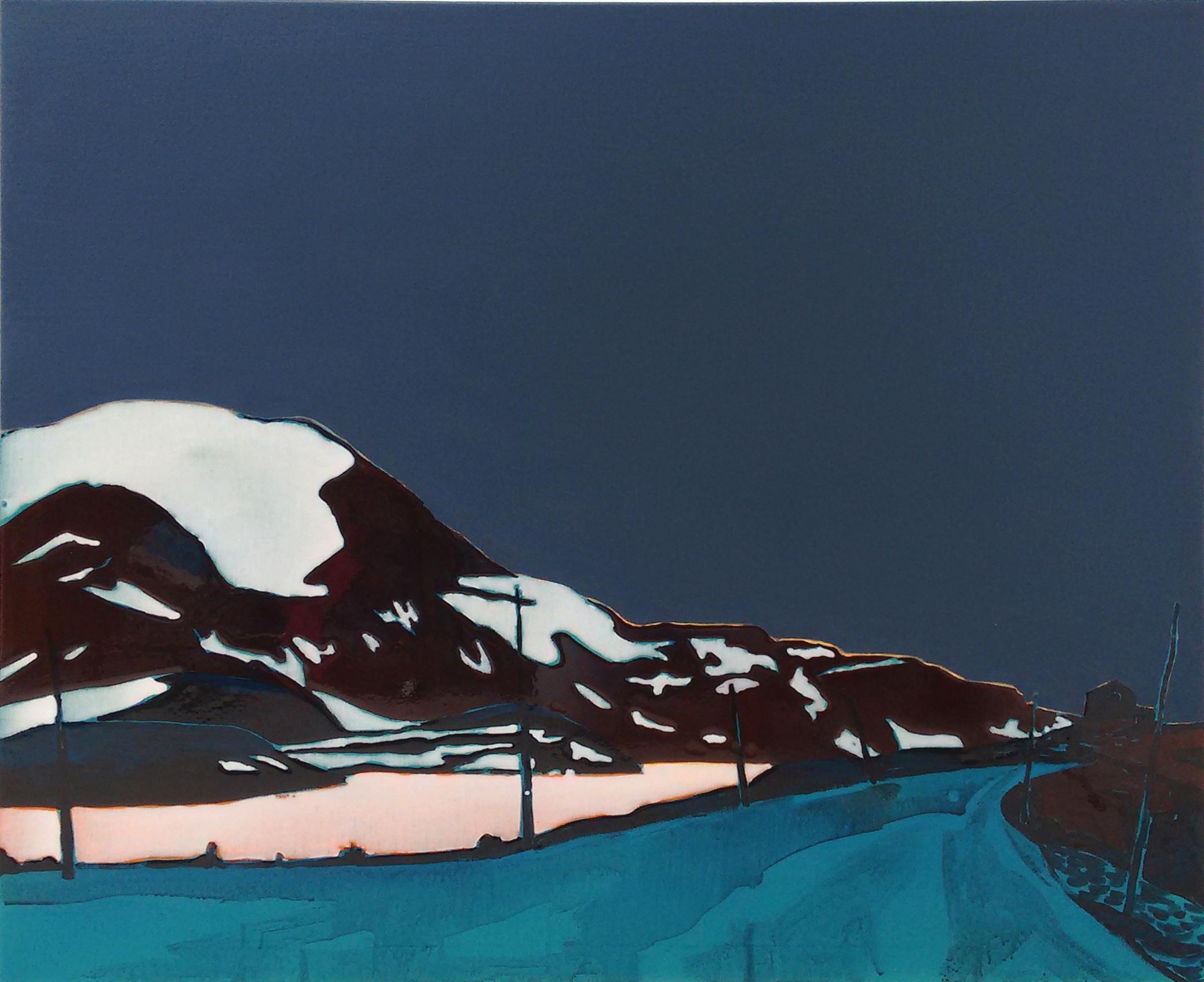 SOGNEFJELLSVEGEN 1  120 x 100 cm acrylic and epoxy on canvas  Sold