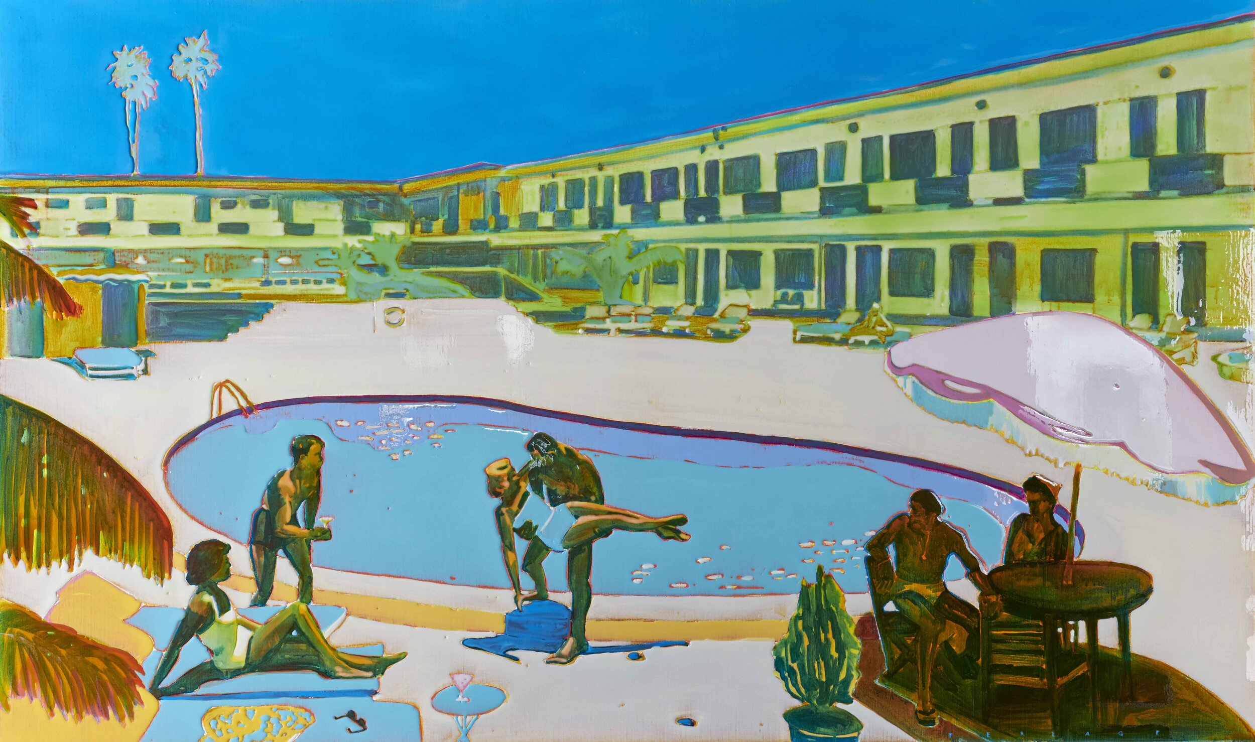 WHATEVER IT TAKES  120 X 200 cm acrylic and epoxy on canvas