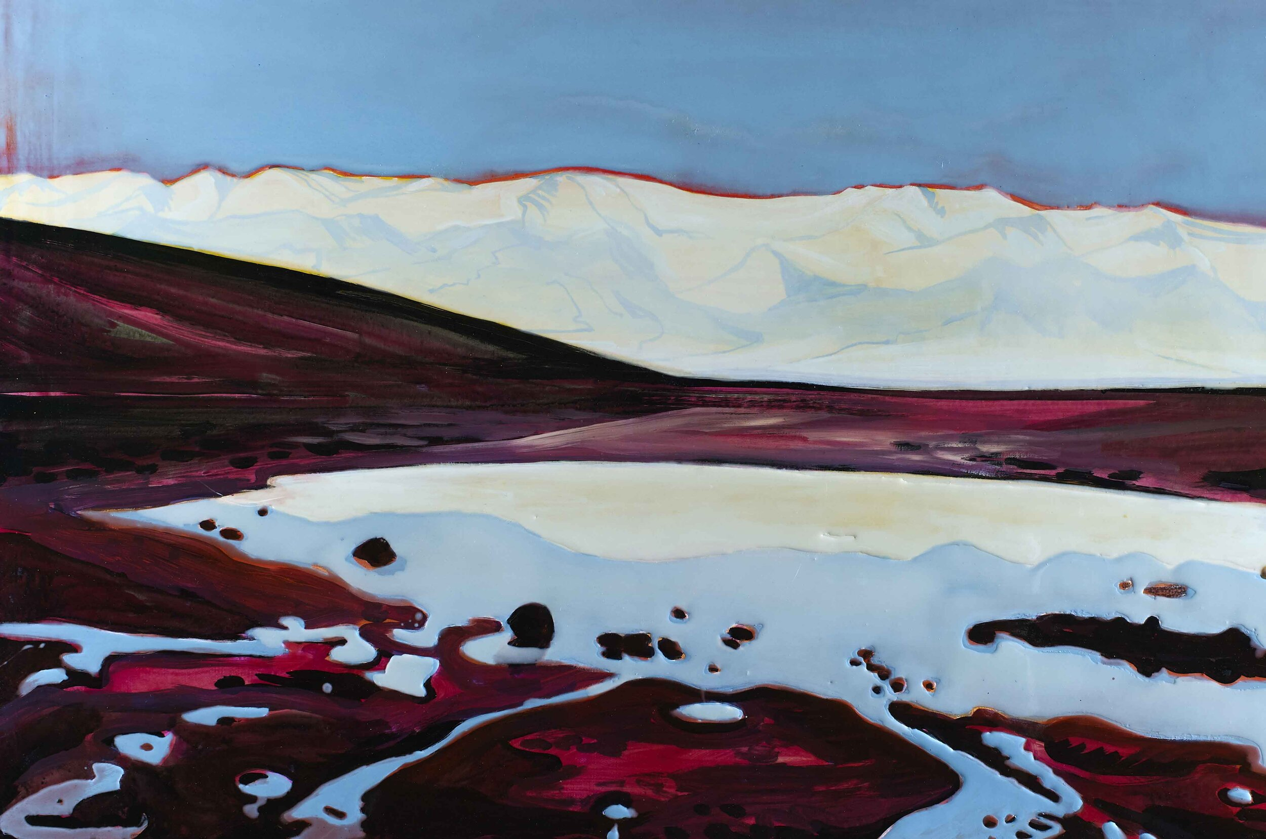 DEATH VALLEY SINK  75 X 120 cm Acrylic and epoxy on canvas