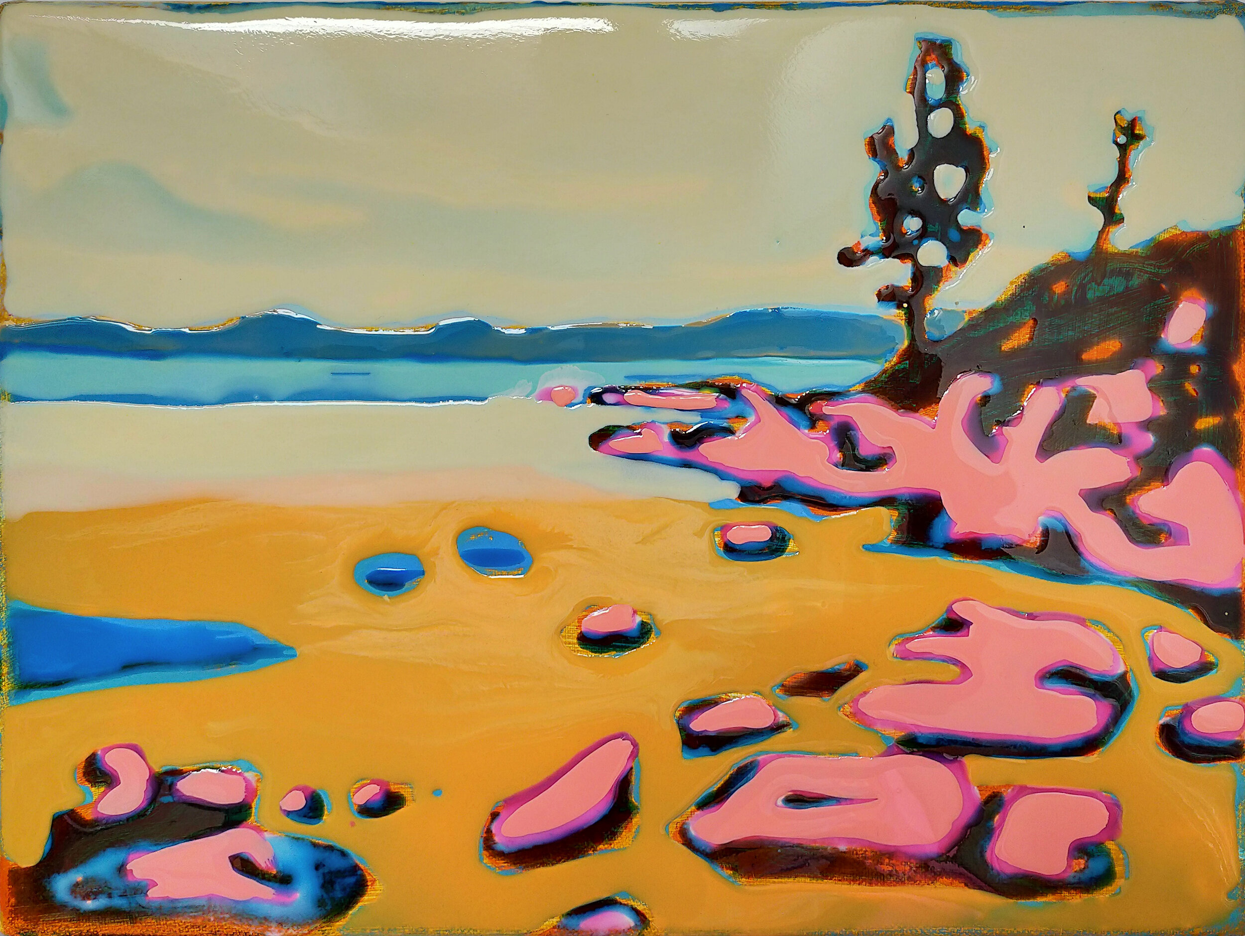 LAKE TAHOE - 2  30 x 40 cm acrylic and epoxy on canvas