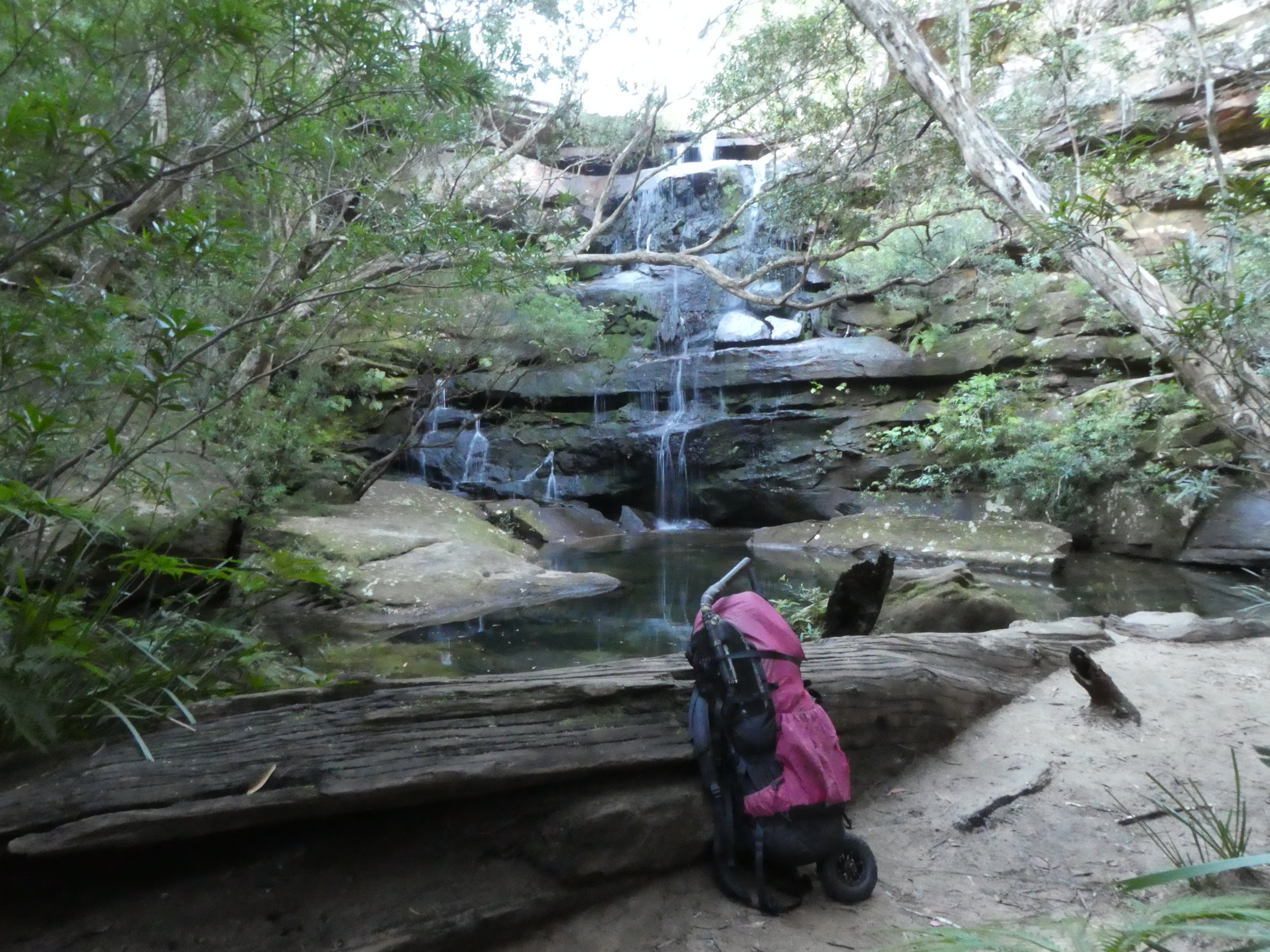 Kariong Brook Falls for a rest