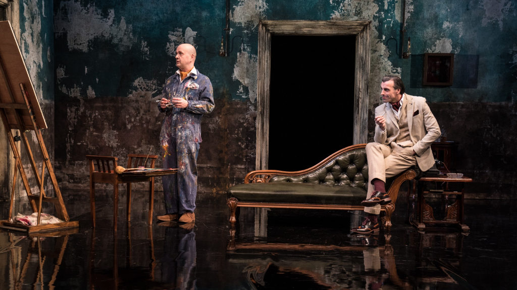 Daniel Goode as Basil Hallward and Jonathan Wrather as Lord Henry Wotton