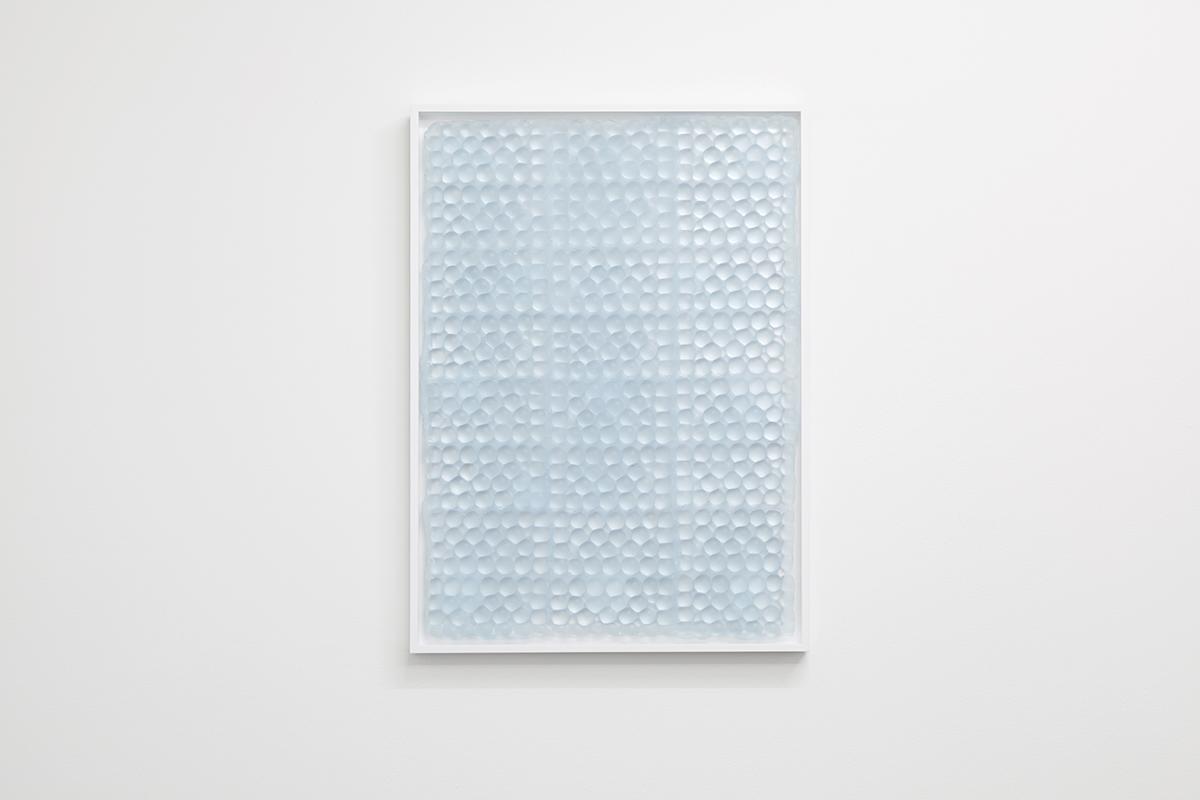 Bubbles , 2015, framed caste resin, 51 x 71 x 3cm.