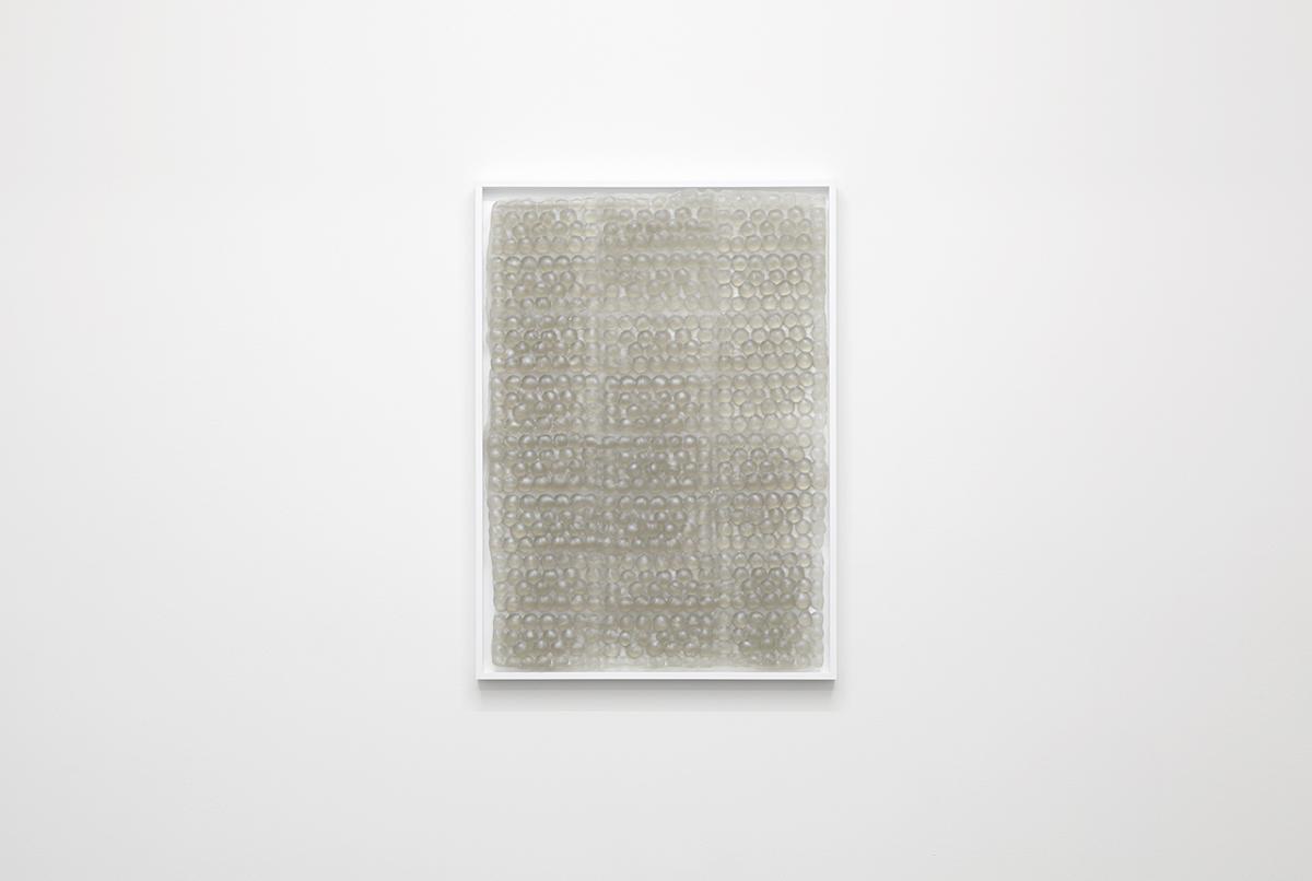 Bubbles , 2015,framed caste resin, 51 x 71 x 3cm.